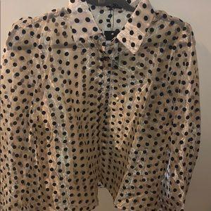 Nasty Gal organza blouse